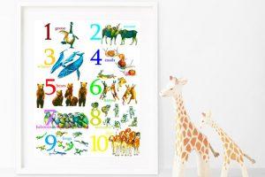 Animal Numbers Print